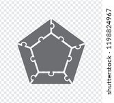 simple icon pentagon puzzle in... | Shutterstock .eps vector #1198824967