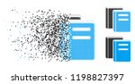 books icon in disappearing ... | Shutterstock .eps vector #1198827397