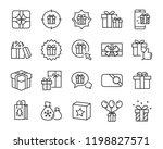 gift box set icons | Shutterstock .eps vector #1198827571