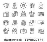 gift box set icons | Shutterstock .eps vector #1198827574