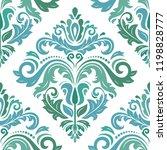 orient vector classic pattern.... | Shutterstock .eps vector #1198828777