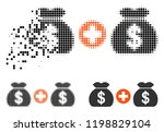 add money bags icon in... | Shutterstock .eps vector #1198829104