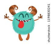 cute cartoon monster. vector... | Shutterstock .eps vector #1198830241
