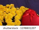 autumn flowers in a pot. yellow ...   Shutterstock . vector #1198831207