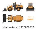 wheel loader on white... | Shutterstock .eps vector #1198833517