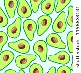 the pattern of avocado. health... | Shutterstock .eps vector #1198838131