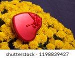 autumn flowers in a pot. yellow ...   Shutterstock . vector #1198839427