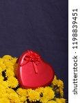 autumn flowers in a pot. yellow ...   Shutterstock . vector #1198839451
