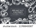 breakfast pastries and desserts ... | Shutterstock .eps vector #1198840087