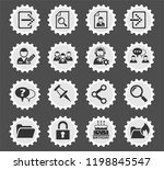 forum interface web icons for... | Shutterstock .eps vector #1198845547