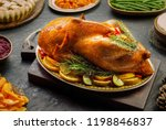 homemade roasted traditional... | Shutterstock . vector #1198846837