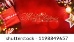 christmas and new year holidays ... | Shutterstock . vector #1198849657