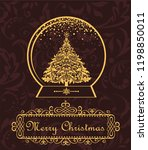season greeting with vintage... | Shutterstock .eps vector #1198850011