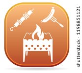 brazier  kebab and sausage icon.... | Shutterstock .eps vector #1198851121