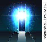 mystical light from the open... | Shutterstock .eps vector #1198855417