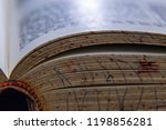 book worn pages tattered spine...   Shutterstock . vector #1198856281
