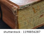 book worn pages tattered spine...   Shutterstock . vector #1198856287