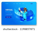 template website design.... | Shutterstock .eps vector #1198857871