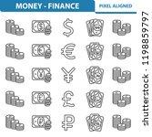 money   finance icons....   Shutterstock .eps vector #1198859797