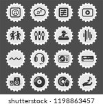 electro music web icons... | Shutterstock .eps vector #1198863457