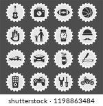 father day web icons stylized... | Shutterstock .eps vector #1198863484