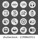 electronics repair web icons... | Shutterstock .eps vector #1198863511