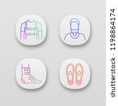 trauma treatment app icons set. ... | Shutterstock .eps vector #1198864174