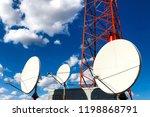 satellite antenna on the... | Shutterstock . vector #1198868791