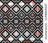 seamless ethnic zigzag chevron... | Shutterstock .eps vector #1198869037