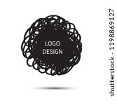 logo design. vector hand drawn... | Shutterstock .eps vector #1198869127