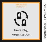 hierarchy  vector icon | Shutterstock .eps vector #1198874827