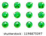 vector green circles collection ...