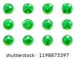 vector green circles collection ...