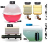 vector car expansion tanks... | Shutterstock .eps vector #1198880887
