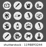 graphic editor tools web icons... | Shutterstock .eps vector #1198893244
