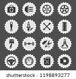 car shop web icons stylized... | Shutterstock .eps vector #1198893277