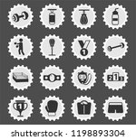 boxing web icons stylized... | Shutterstock .eps vector #1198893304