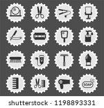 barbershop web icons stylized... | Shutterstock .eps vector #1198893331