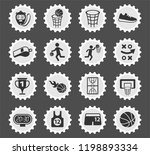 basketball web icons stylized... | Shutterstock .eps vector #1198893334