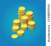 Stack Of Coins. Vector...