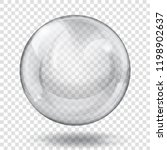 big translucent gray sphere... | Shutterstock .eps vector #1198902637