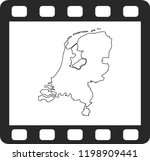 vector map of netherlands | Shutterstock .eps vector #1198909441