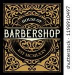 vintage barbershop label | Shutterstock .eps vector #1198910497