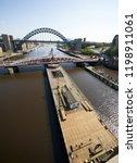 newcastle upon tyne  england ... | Shutterstock . vector #1198911061