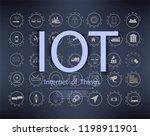 set vector line icons in flat... | Shutterstock .eps vector #1198911901