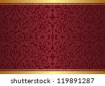 crimson and gold background... | Shutterstock .eps vector #119891287