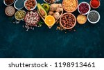 superfoods healthy food. nuts ... | Shutterstock . vector #1198913461