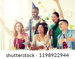 corporate  celebration and...   Shutterstock . vector #1198922944