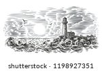 engraving style illustration of ... | Shutterstock .eps vector #1198927351