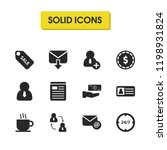 trade icons set with personal...